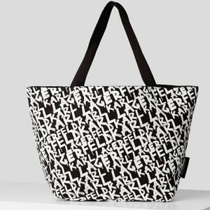 KARL GRAFFITI CANVAS SHOPPER